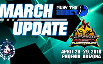 Muaythai Madness:  2019 USMTO West March Update